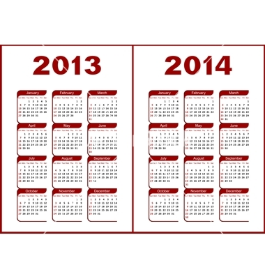 Calendar For 2013 And 2014