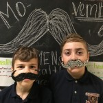 Students participated in a Movember fundraising campaign.